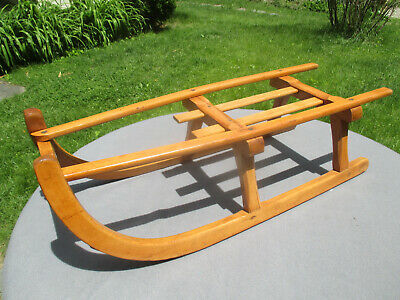 Sleds Snow Tubes Antique Wood Sled Trainers4me