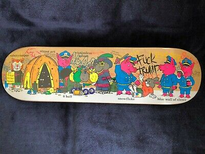 StrangeLove Skateboards Sean Cliver Crazy Town deck - New, Rare! Paisley