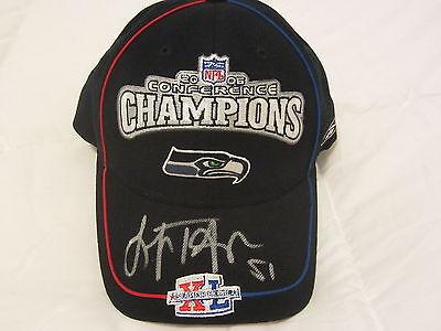 LOFA TATUPU AUTOGRAPH SIGNED 2005 NFC CONFERENCE CHAMPIONS NFL CAP SEAHAWKS COA