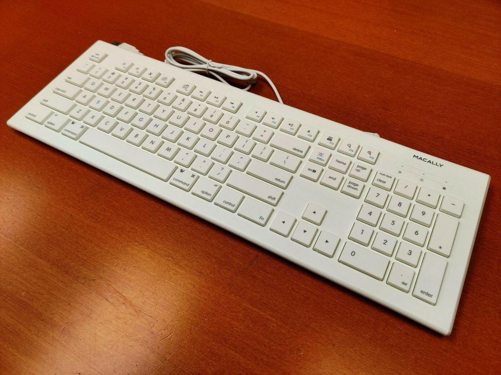 Apple Mac Keyboard - Macally 104 Key Full-Size USB Keyboard