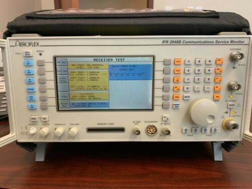 Aeroflex IFR 2948B Communications Service Monitor with Custom Bag