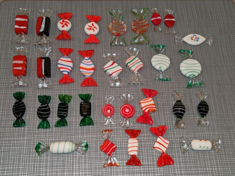 31 Glass Candy Christmas Decorations Candies Ornaments