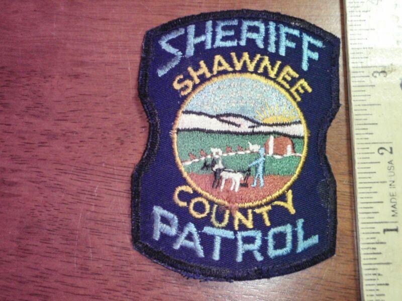 RARE SHAWNEE COUNTY KANSAS PATROL    SHERIFF DEPARTMENT PATCH    BX 4 #5