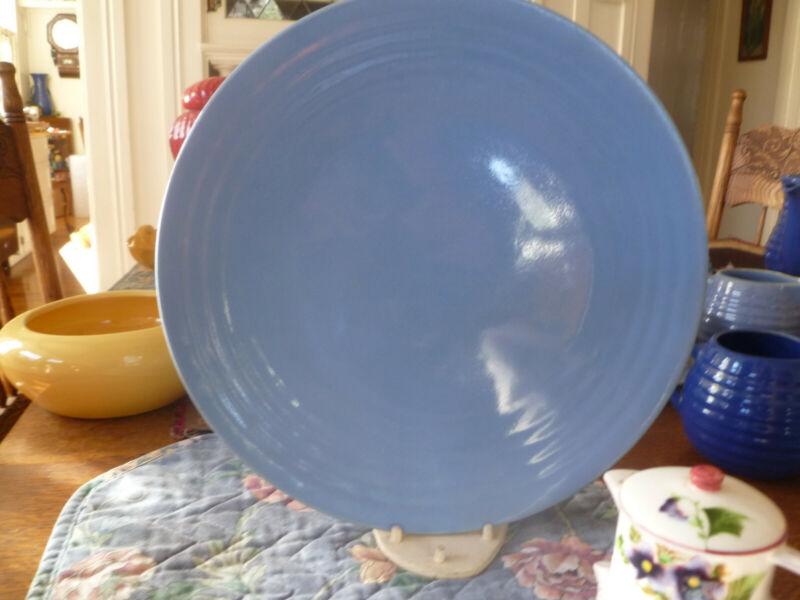 Vintage Bauer Pottery Ring Ware Large Dinner Plate-10 3/4 Delph Blue