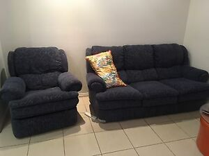 Matching 3 seater couch and recliner Hindmarsh Charles Sturt Area Preview