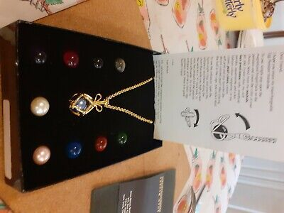 joan rivers classic collection necklace interchangeable egg pendant new in box