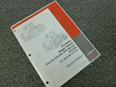 Case Ih Steiger Stx450 Stx500 Tractor Owner Operator Maintenance Manual 6-6284