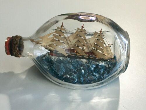 Vintage English Model Sailing Ship in Bottle