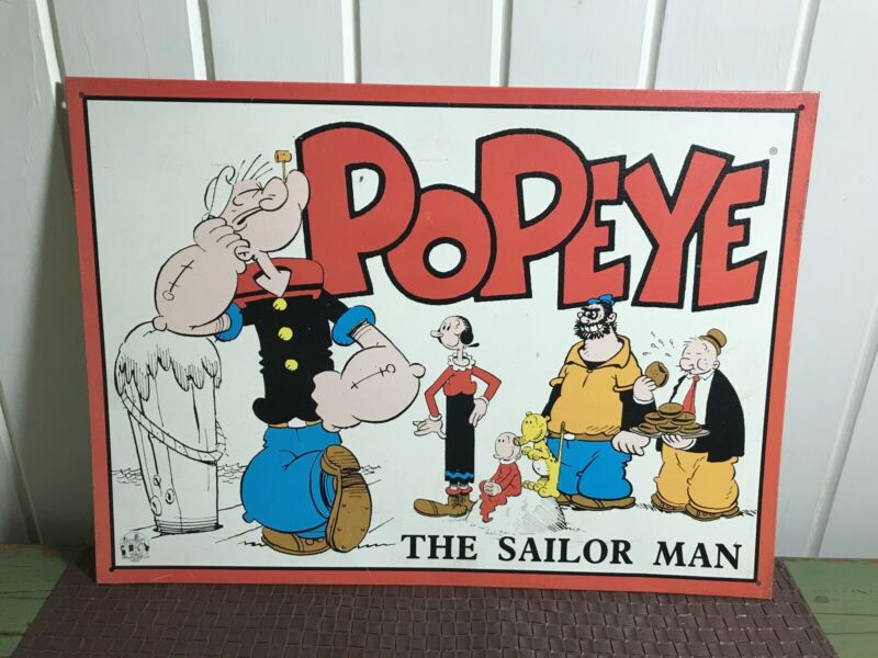 Popeye The Sailor Man metal sign 1996 King Features Syndicate Inc. TM The Hearst