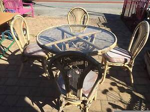 Old Cane 4 Seat Outdoor Dining Setting Beckenham Gosnells Area Preview