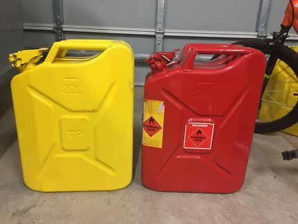 4 x 20L Yellow Jerry Cans
