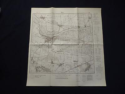 Landkarte Meßtischblatt 2313 Aken, Steutz, Brambach, Reppichau, Mosigkau, 1937