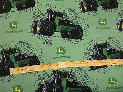 JOHN DEERE fabric BIG TIME FARM TRACTOR JOHN DEERE TRACTOR GREEN CP59369 BTY NEW for sale  Shipping to India