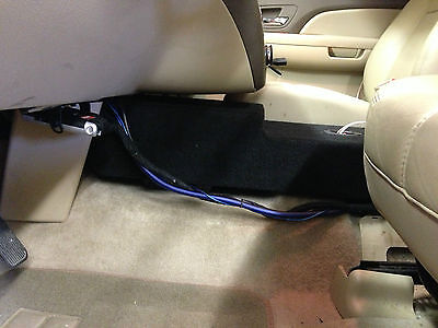 2007 to 2014 Chevy Tahoe Console Hidden Box Enclosure Subwoofer 10 Sub speaker
