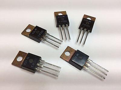 Tip30c 5 Pcs Pnp Bipolar Transistor Medium Power Switch To-220 Case