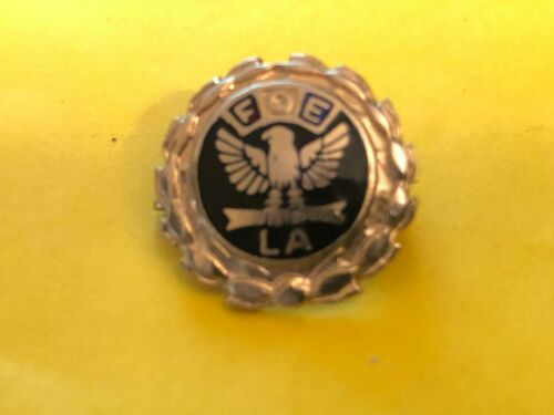 Vintage F.O.E. LA Lapel Pin Fraternal Order of Eagles Ladies Auxiliary