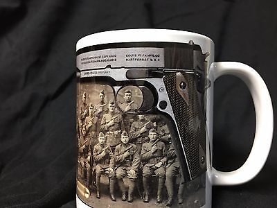 Colt 1911 45 Auto (Colt 1911 Pistol Coffee Mug 45 auto Tactical Military WWI WWII )