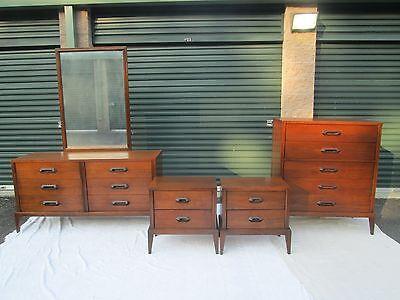 "Mid Century Danish Modern 5 Piece Bedroom Set "" BASIC WITZ "" Great MCM Design !!"