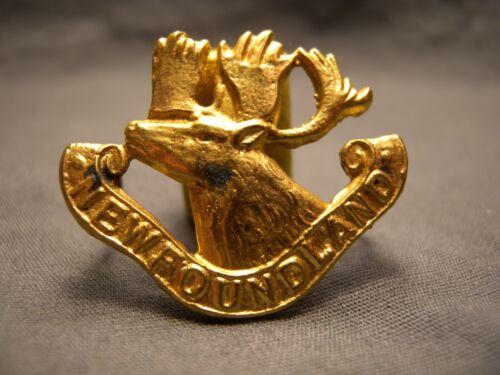 FIRST NEWFOUNDLAND REGIMENT WWI CAP BADGE 1914 M.178a CANADA 1st ROYAL NFLD