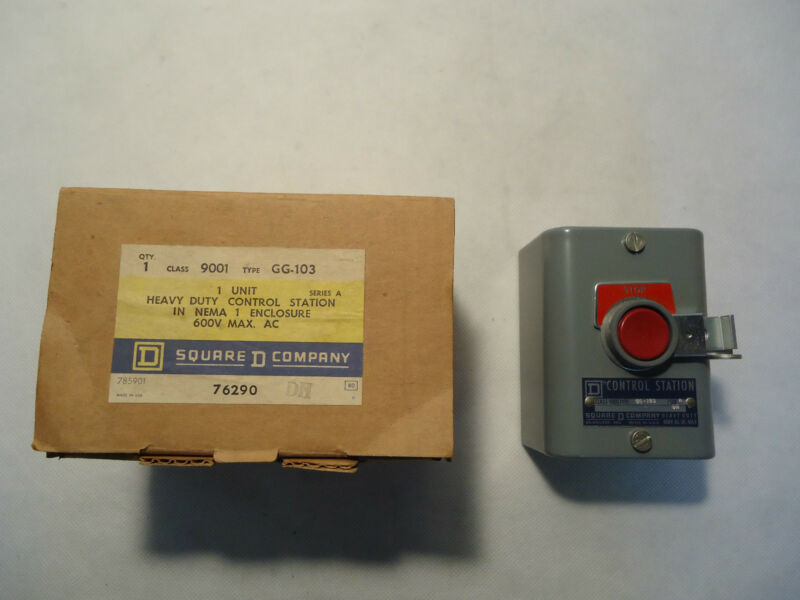 NEW IN BOX SQUARE D 9001-GG-103 HEAVY DUTY CONTROL STATION