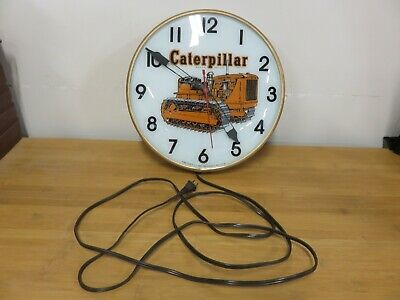 Vintage Caterpillar Equipment Tractor, PAM Clock Lighted, Good Working Condition
