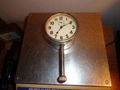 Antique Long Stem Car Clock Automobile Dash Wind Up Works