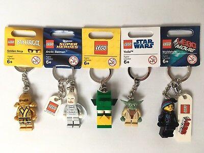 Lego Keyrings - Star Wars - Super Heroes - Ninjago - Movie - Dragon - You Choose