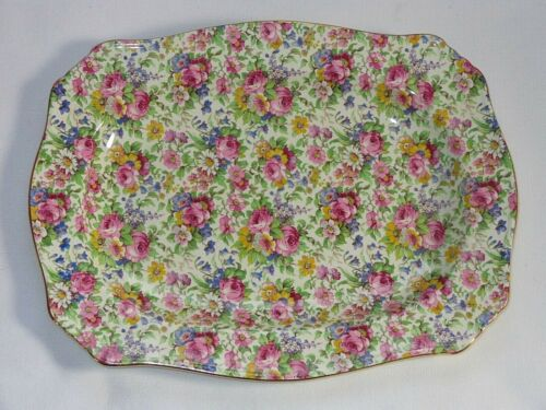Royal Winton Grimwades England Chintz ~ SUMMERTIME ~ Meat Platter