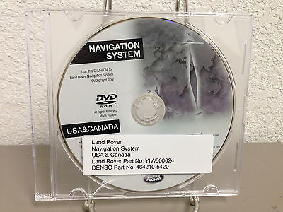 2005 Update 2006 2007 Land Rover LR3 Range Rover Navigation DVD Disc YIW500024