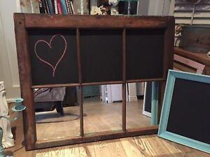 Magnifique Fenêtre de grange tableau et miroir