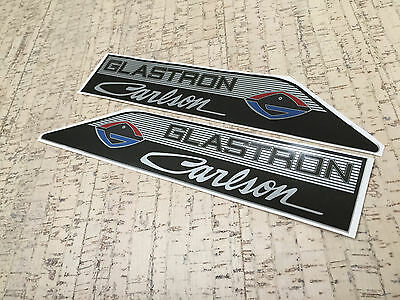 """Glastron Carlson set of two decals / 13"""" x 2,5"""" (33 cm x 6,35 cm) /"""