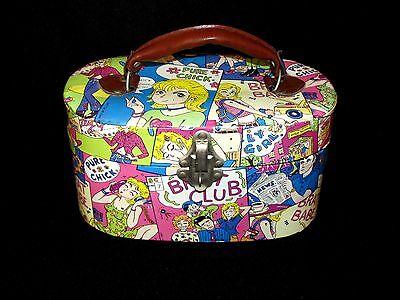 Comic Strip Style Make Up Cosmetic Storage Case Box Brat Club Pure - Comic Strip Makeup