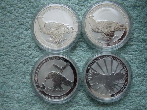 2016 to 2019 AUSTRALIAN SILVER Wedge Tailed Eagle BU 1 oz (Set of four coins)