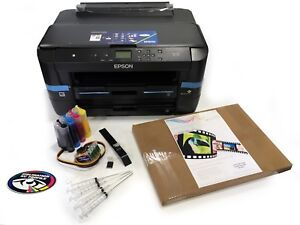 None OEM A3 Dye Sub Sublimation Printer Epson WF-7210 + CISS + Ink + A3 Paper
