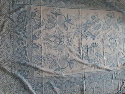 Vintage blue and white heavy sheet blanket