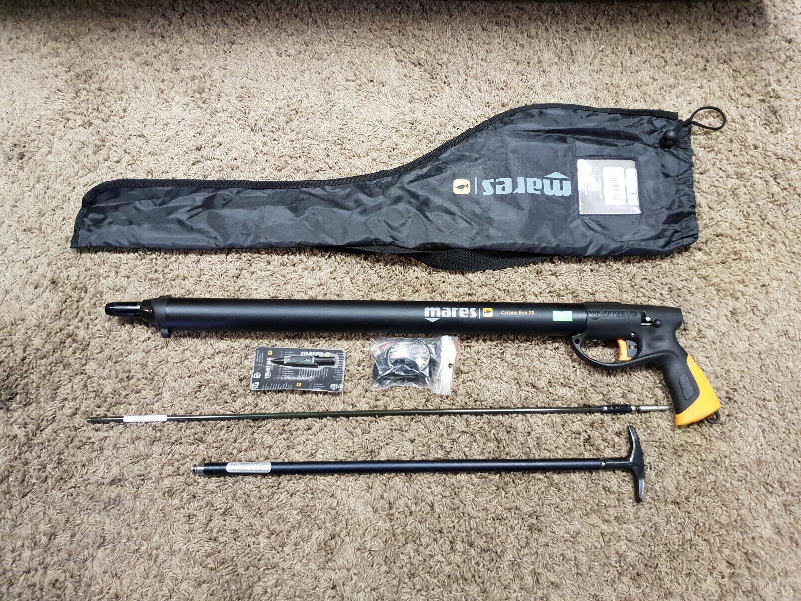 как выглядит Mares CYRANO EVO Underwater Fishing Harpoon Spearfishing rifle speargun 42-55-70 фото
