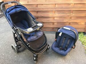 Poussette + coquille + base Graco35