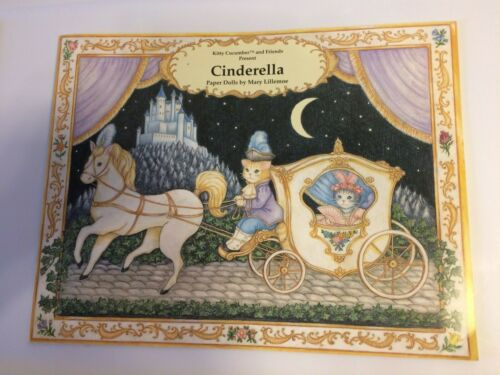 Kitty Cucumber CINDERELLA PAPER DOLLS BOOK MINT NEW UNCUT