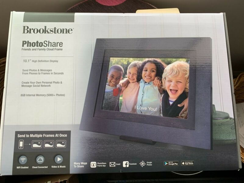 "Brookstone PhotoShare 10.1"" High Definition Display - opened box, but never used"