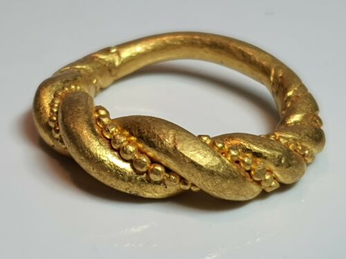 Viking Gold Twisted Ring 9th-11th century AD.