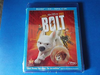 Bolt (Blu-ray Disc + DVD + Digital Copy) New, Factory Sealed