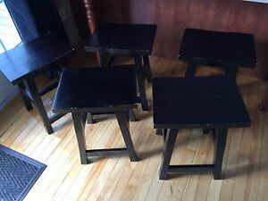 Lot de 5 bancs de comptoir