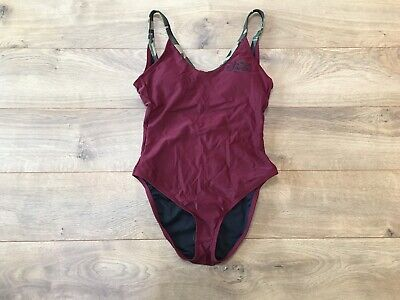 FOX Racing Parker One Piece Swimsuit Cranberry Red Camo Women's SZ S ( S22937 (Racing Swimsuits For Women)