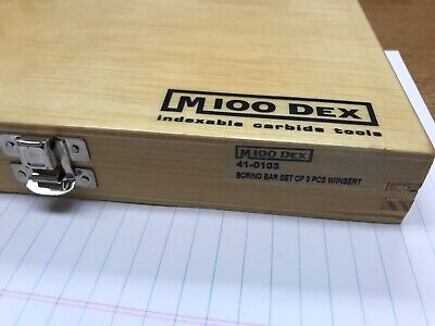 Micro100 Boring Bar Set. 3 Pc Set. 38 12 58 Dia. Boring Bars.