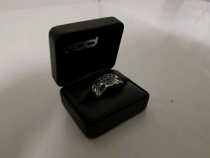 Harley davidson size 11 stainless steel ring Bellbird Park Ipswich City Preview