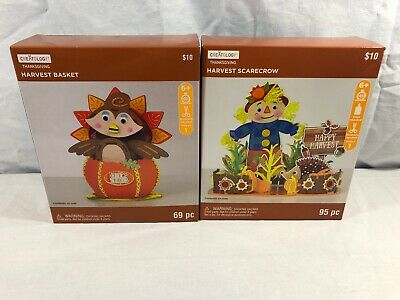 Creatology Thanksgiving Foam Activity Set Of 2 NEW Scarecrow/Basket Fall DIY