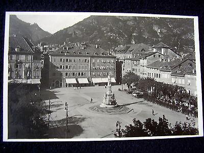 LOVELY OLD PPC: BOZEN~BOLZANO~ca 1924~ANIMATED~WALTHER VON DER VOGELWEIDE PLATZ