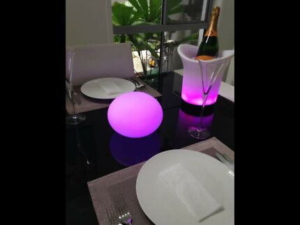 Wine Coolers, LED Mood Balls, Transform Your Outdoor Area or Event