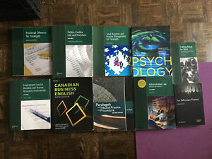 Paralegal Books for Sale + Psychology