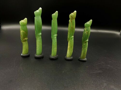 Ancient Pyu dynasty jade Aventurine Birds figure carved beads south east Asia